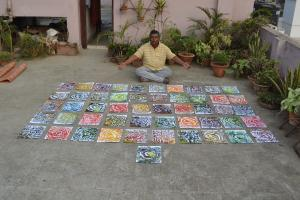 Worlds Fastest Painter Sets Five Artistic World Records